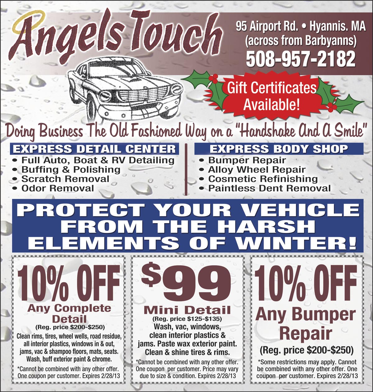 AngelsTouch Cape Cod Coupon