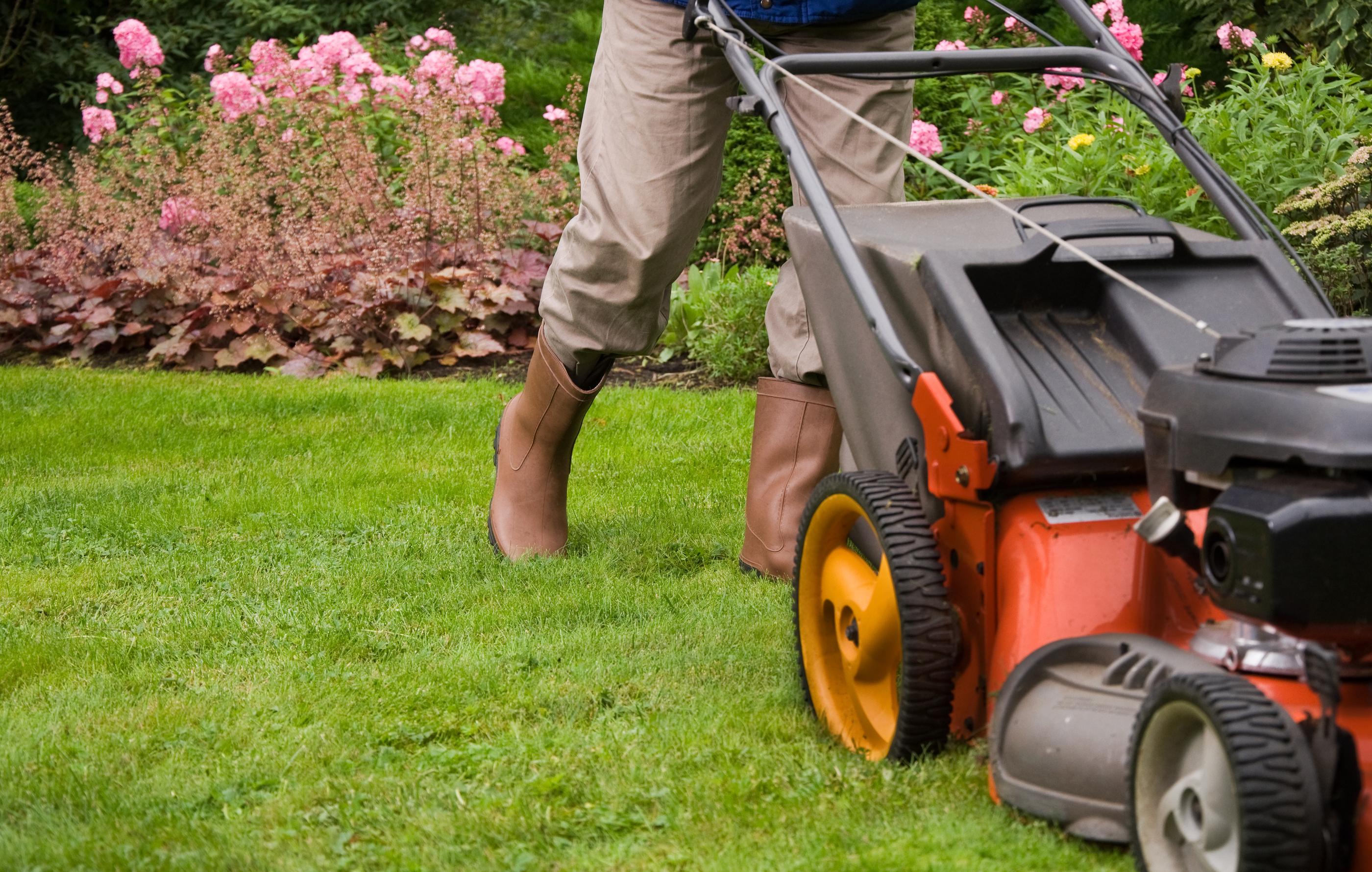 Gardener-mowing-the-lawn--18929231