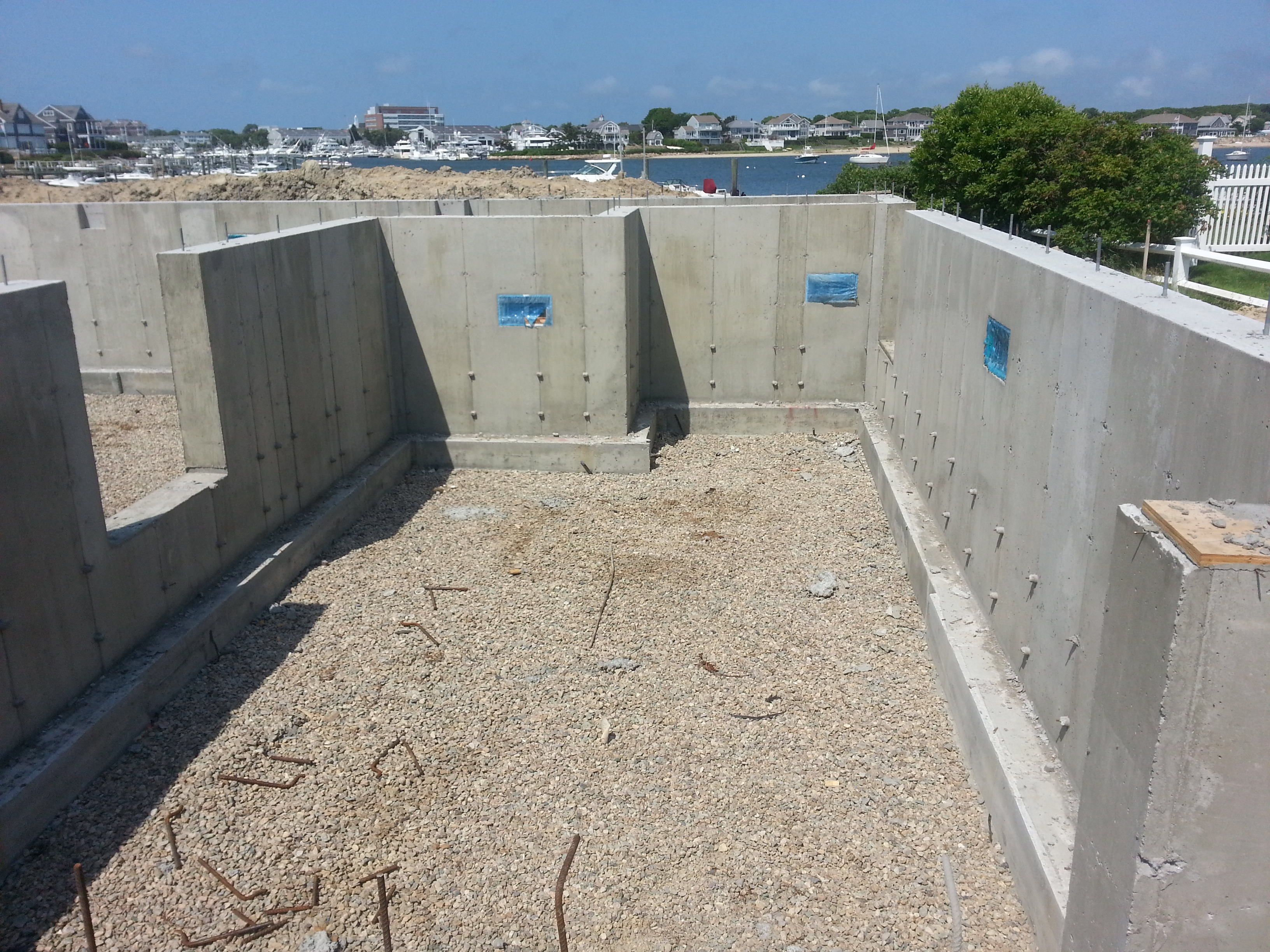 Construction projects along the coast or in other areas  with a high risk of flooding are subject to following FEMA's regulations, including a flood proof foundation such as the one pictured here.